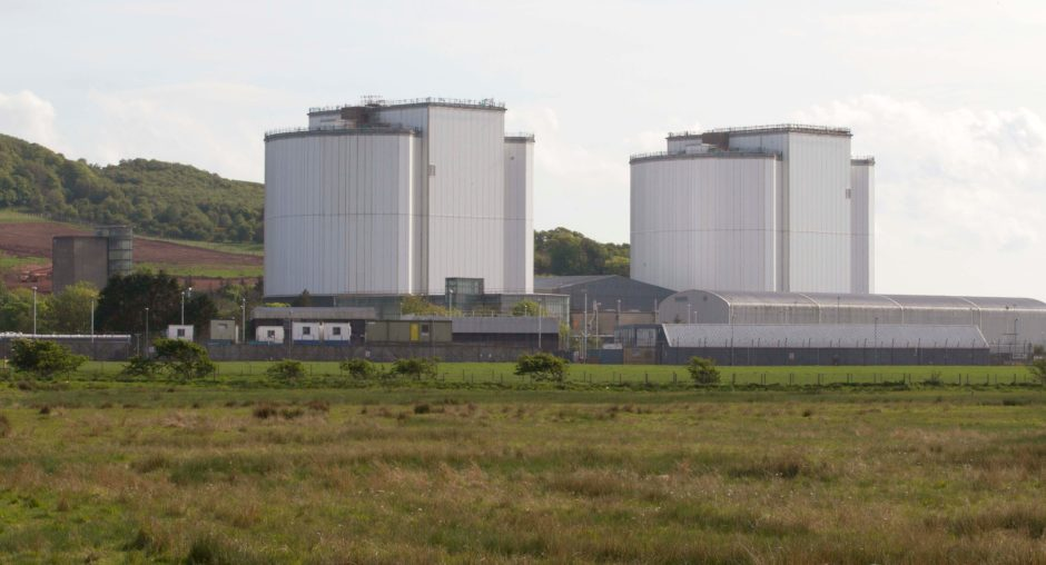 Hunterston B power station in Ayrshire.