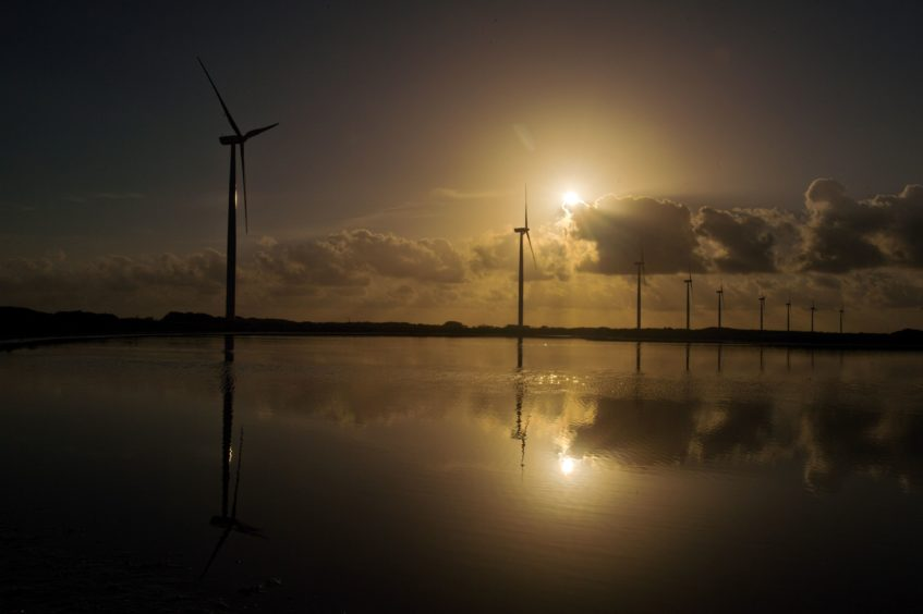 Wind turbines at Avangrid Renewables' Baffin Wind Power Project.  The project is located on the South Texas coast near the town of Sarita in Kenedy County, Texas