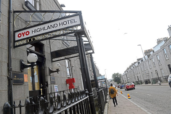 The Highland Hotel on Crown Street closed in January due to the oil downturn.