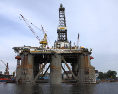 The WilHunter drilling rig hasn't been in use since 2015.
