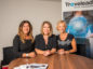 Left to right: Gillian Watson, Sally Cassidy and Pamela Yeoman of Traveleads