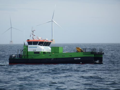 The Green Storm vessel