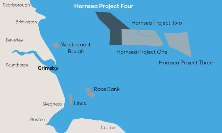 Orsted's Hornsea Four project plan.