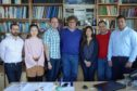 Professor Marian Wiercigroch, Director of CADR, is pictured (centre) with members of the CADR team.