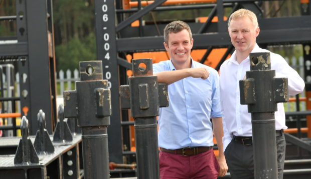 From left, Andy Black, head of UK operations and  Murdo Macleod, UK managing director, at WellGear's new facility in Drumoak. Pic by Chris Sumner.