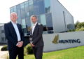 Bruce Ferguson, Managing Director of Hunting and Roger Findlay, Organic Oil Recovery General Manager.