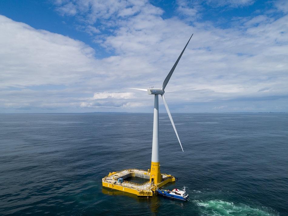 The Floatgen demonstrator turbine. Pic: Ideol