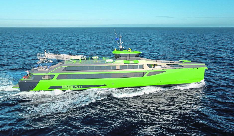 Damen Shipyards' Fast crew change vessel