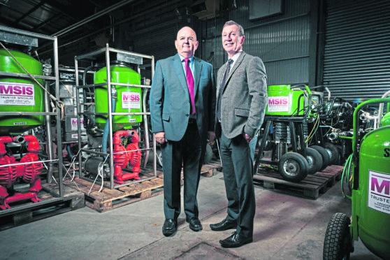 MSIS Chairman Ian McPherson and Chief Executive Chris Lloyd.