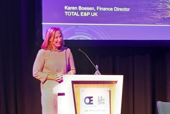 Karen Boesen finance director for Total.