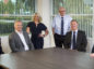 Quanta's new starters from left to right, Stephen Brown, David Stark, Lucy Walton, Neville Dixon, David Poulton and John Brown.