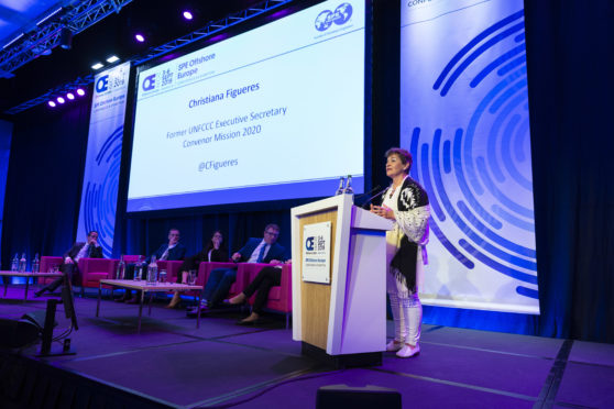 Christiana Figueres, Former United Nations FCCC Executive Secretary, spoke about the need to further develop carbon capture technology.