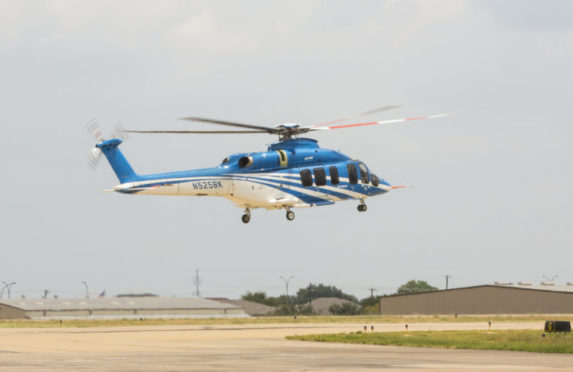 Pilot Michael Hougaard testing the 525 Relentless. Photo: Bell Helicopters/ Industri Energi
