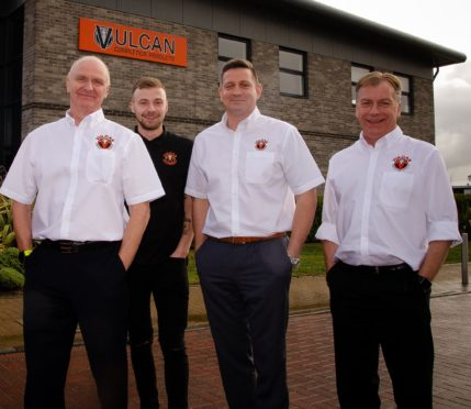 The team at Vulcan Completion Products, with Iain Kirk on the left.