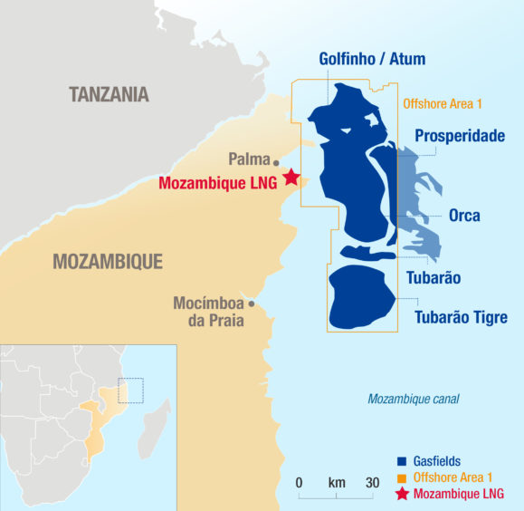 Total is returning workers to Mozambique LNG after receiving assurances from the government on a new security zone.