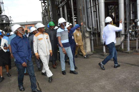 NNPC's Mele Kyari visits the Port Harcourt refining complex