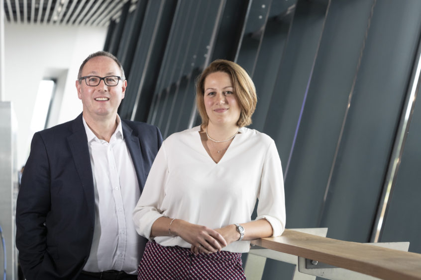 Paul de Leeuw, director of the Energy Transition Institute at RGU and Victoria Cameron, business coordination manager at Kellas Midstream.