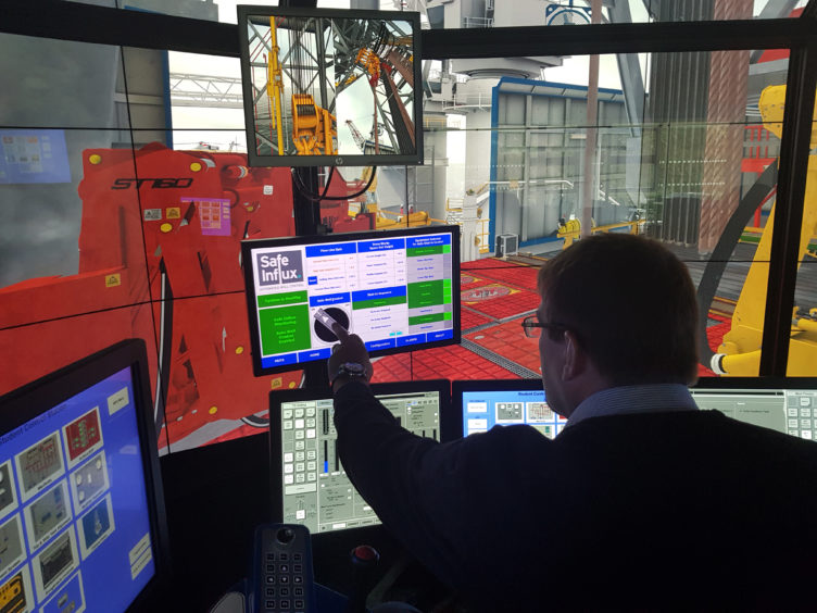 Safe Influx has employed the use of drilling simulators at RGU