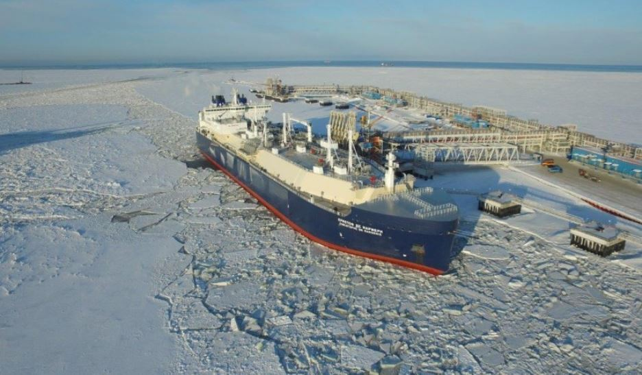 Arctic LNG 2 will be abel to produce 19.8million tonnes of LNG per year. Pic from Novatek of a tanker near the Yamal LNG plant.