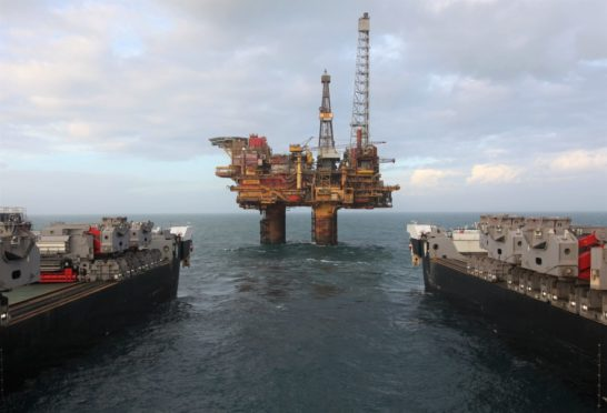 The topsides for the Bravo platform at Shell's Brent field were removed last year.