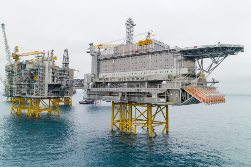 The Johan Sverdrup installation. Pic: Equinor