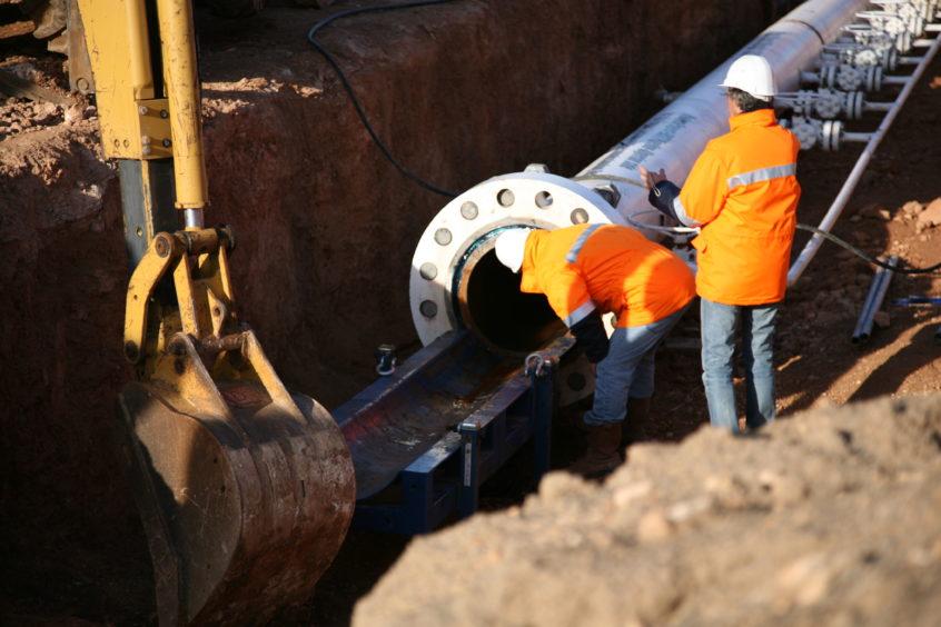 Medgaz under construction
