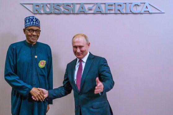 Putin and Buhari talk in Sochi
