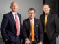 Davis Larssen (left) , new CEO of Proserv Controls, Group CEO David Currie (centre) and David Nemetz, president of Gilmore, a Proserv Company.