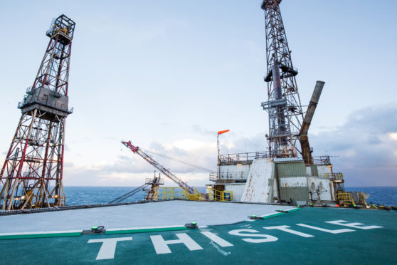 The Thistle Alpha platform was evacuated in October following a subsea structural inspection.