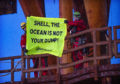 Greenpeace staged a protest at the Brent field earlier this week.