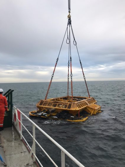 The manifold – weighing 190Te (metric tonnes) – was then recovered using the Ocean Yield Connector, using a 400Te single fall crane.
