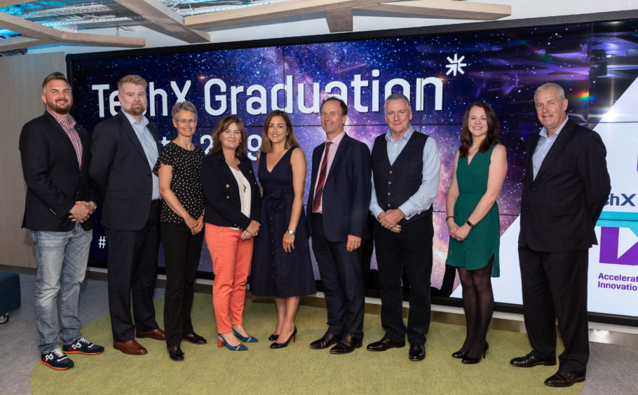 Strategic partners, Equinor, BP and KPMG alongside the OGTC's CEO, Colette Cohen (fourth from left) and TechX Director, David Millar (far left).