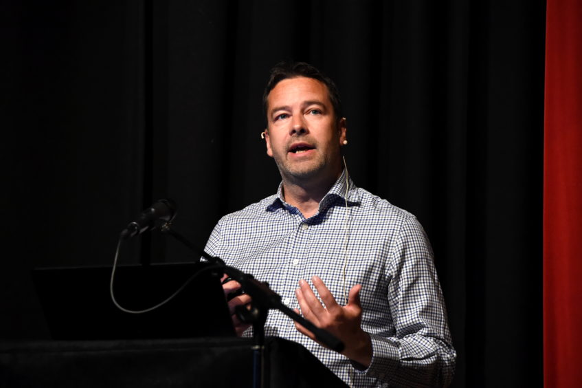 CR0013015 Energy Voice Tracking Transition, held at International School of Aberdeen, Pitfodels House, North Deeside Road.  Picture of Iain Gallow (senior project manager, Calash).  Picture by KENNY ELRICK     29/08/2019