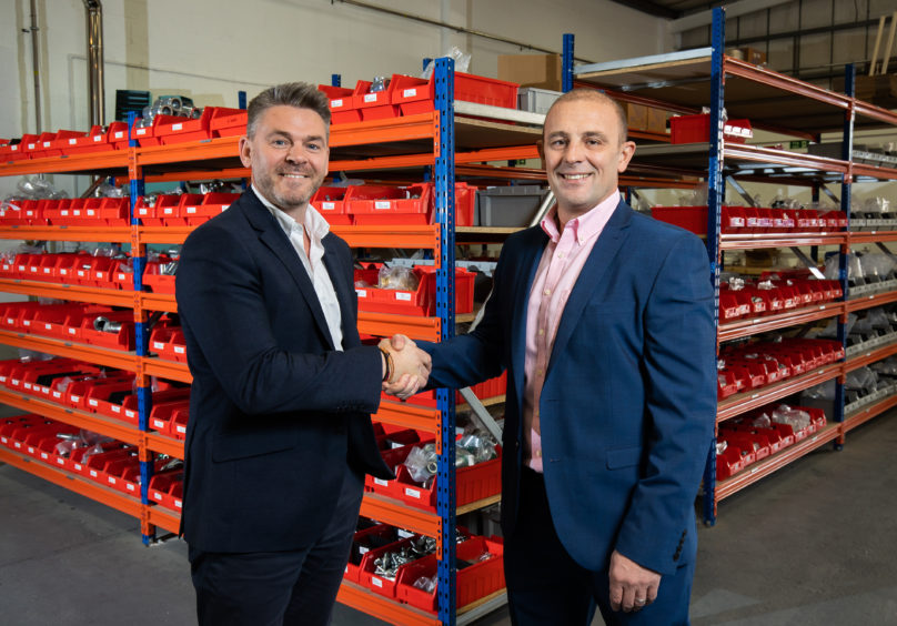 Gary Notman (left), managing director of Pressure Test Solutions, and Steve Ord, MD of the new business, PTS Services.
