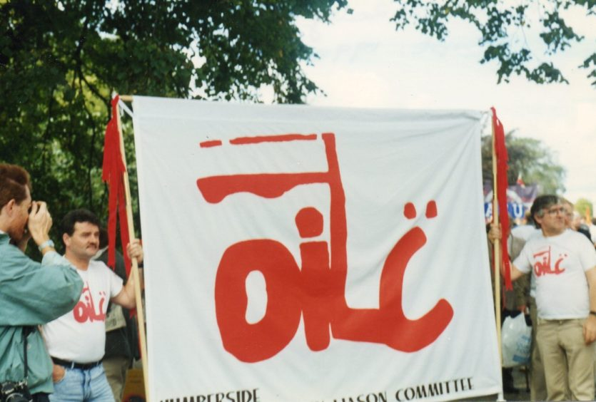 """Oilc was formed in 1989. The logo is inspired by the """"Solidarnosc"""" trade union movement in Poland."""