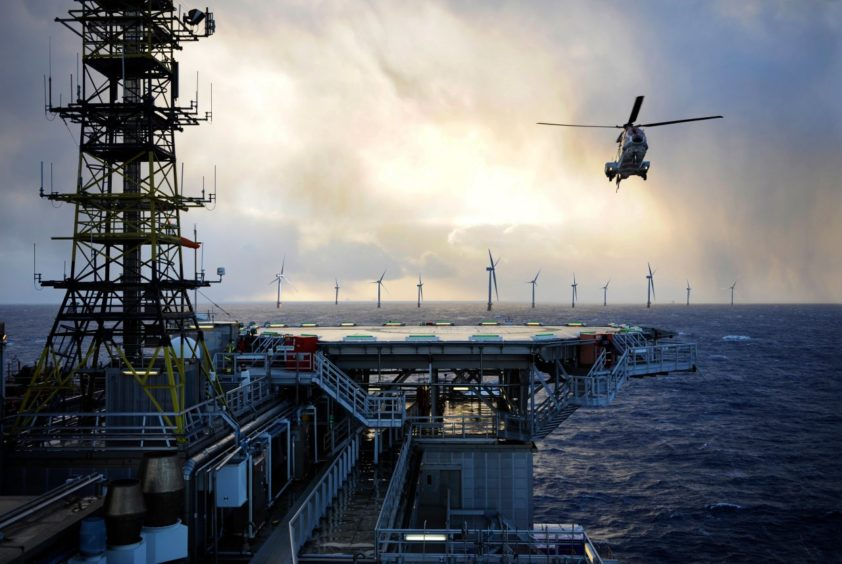 Equinor illustration of the Hywind Tampen project.