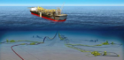 Concept: a rendering of the FPSO and subsea infrastructure at the Barossa field development off northern Australia Photo: MODEC