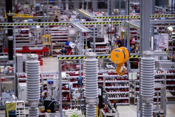 Siemens switchgear manufacturing plant Assembly of high voltage switchgears. Circuit breaker assembly. Berlin, Germany13.09.2018.Photo: Krisztian Bocsi