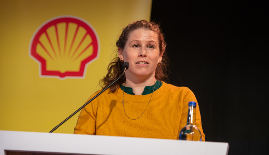 Award-winning writer and campaigner, Caroline Criado Perez OBE spoke at the Shell Girls in Energy event.