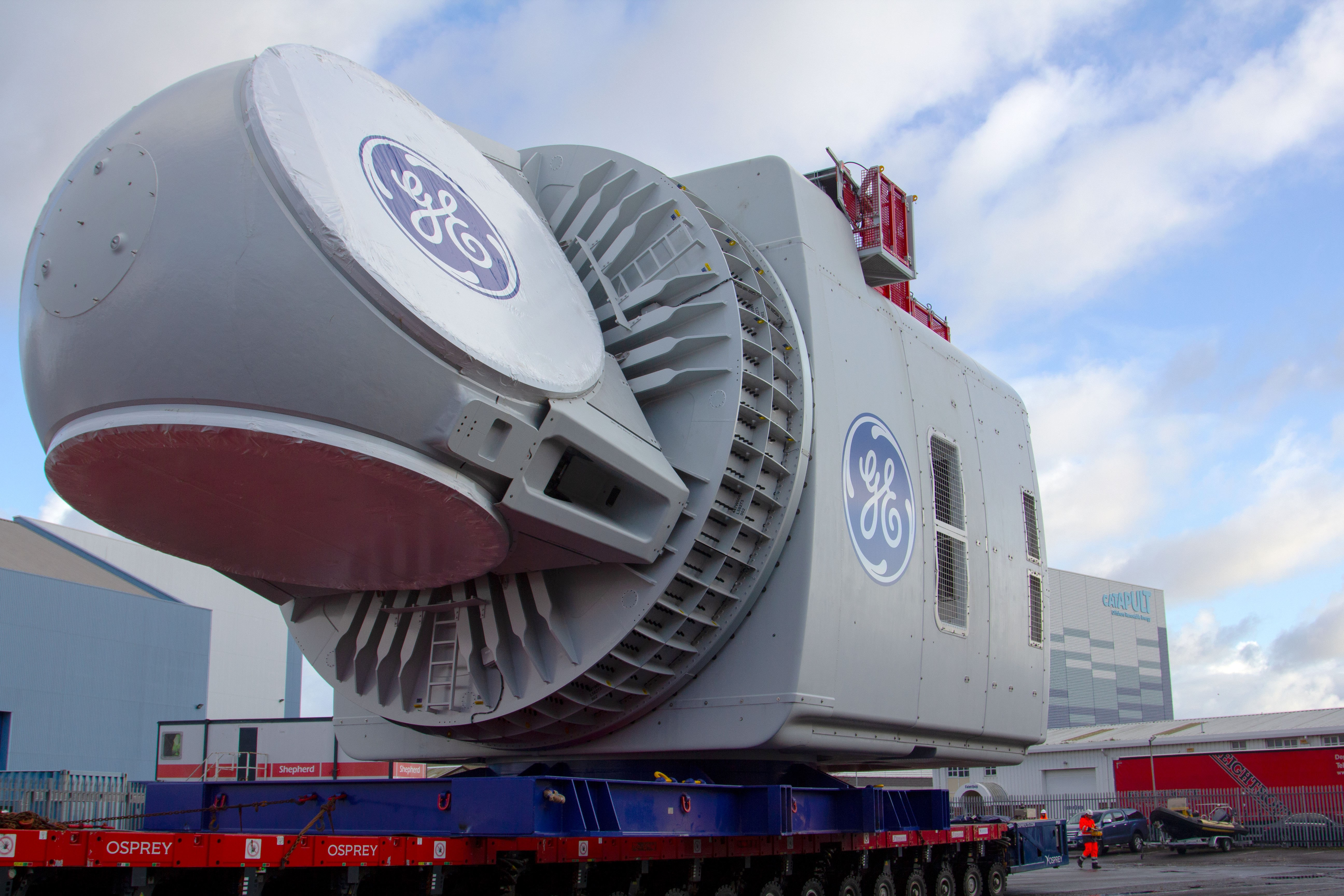 GE Renewable Energy turbine nacelle.