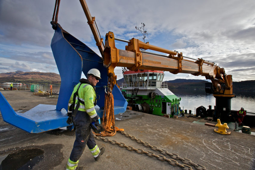 The newly-installed mooring system is designed to secure the dock's two huge concrete caisson gates, each weighing 11,000 tonnes when floated. Pic: Colin Keldie