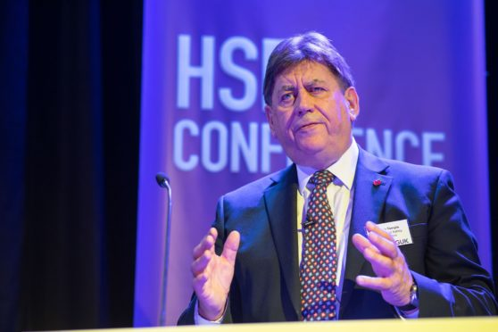 Martin Temple, chairman of trhe Health and Safety Exeucitve, spoke at the OGUK HSE Conference in Aberdeen. Pic: Abermedia