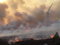Dozens of firefighters were called to the blaze at the Paul's Hill wind farm near Aberlour.