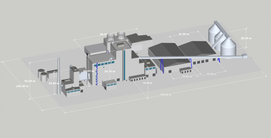 An artist's rendering of the  Energy Recovery Facility (ERF).