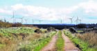 Artist's impression of the Limekiln Wind Farm    DEVELOPERS IMPRESSION