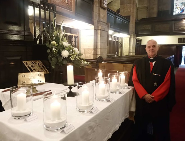 Rev Gordon Craig, oil and gas chaplain, at the remembrance service in Aberdeen on Saturday, November 2, 2019.