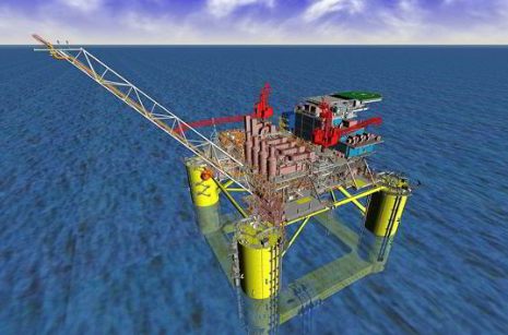 An artists rendering of the Whale platform.