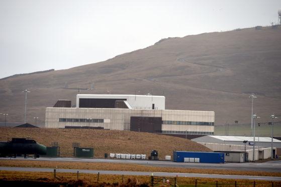 Locator of Sumburgh Airport, Shetland.  Picture by Jim Irvine  24-1-16