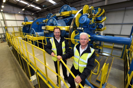 New machinery at Hydrasun, Gateway Business Park, Moss Road, Aberdeen Picture of (L-R) Craig Sangster (Chief Commercial Officer) and Bob Drummond (CEO of Hydrasun).