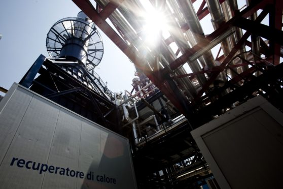 The world's first industrial-scale hydrogen plant, owned by Enel SpA, operates in Fusina, near Venice, Italy, on Monday, July 12, 2010. Enel over the next five years plans to spend 7.4 billion euros on research and construction of hydrogen plants, wind farms, solar power, and other technologies that are cleaner than its coal, gas and oil-fueled plants. Photographer: Alessandra Benedetti/Bloomberg